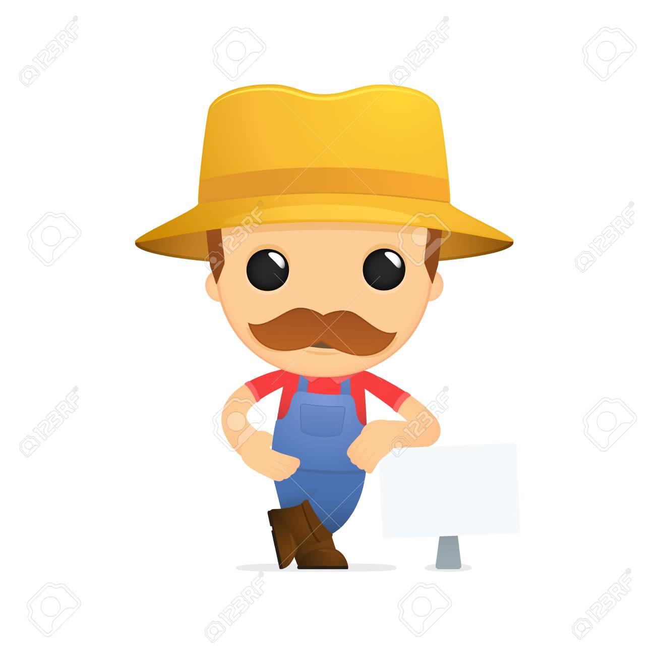 funny cartoon farmer Stock Vector - 13429351