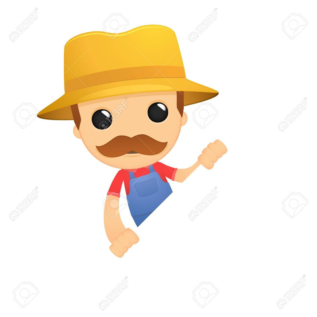 funny cartoon farmer Stock Vector - 13429221