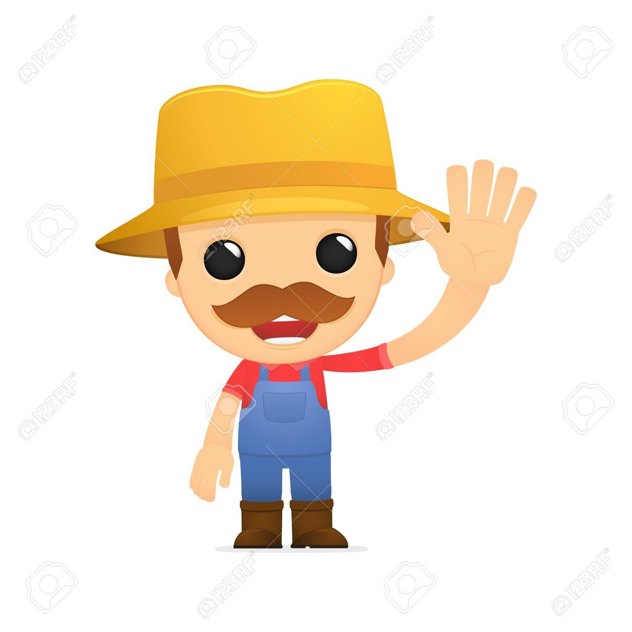 funny cartoon farmer Stock Vector - 13429313