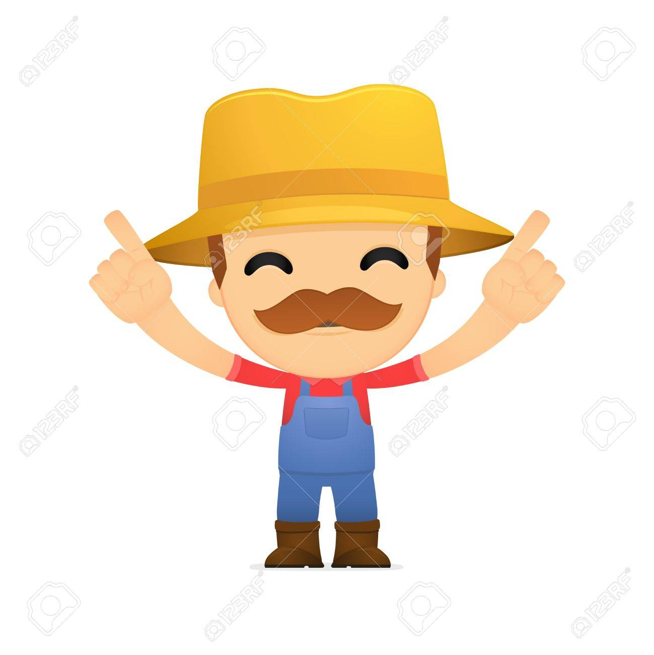 funny cartoon farmer Stock Vector - 13429266