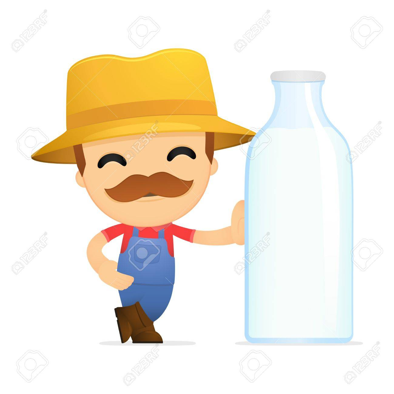 funny cartoon farmer Stock Vector - 13429382