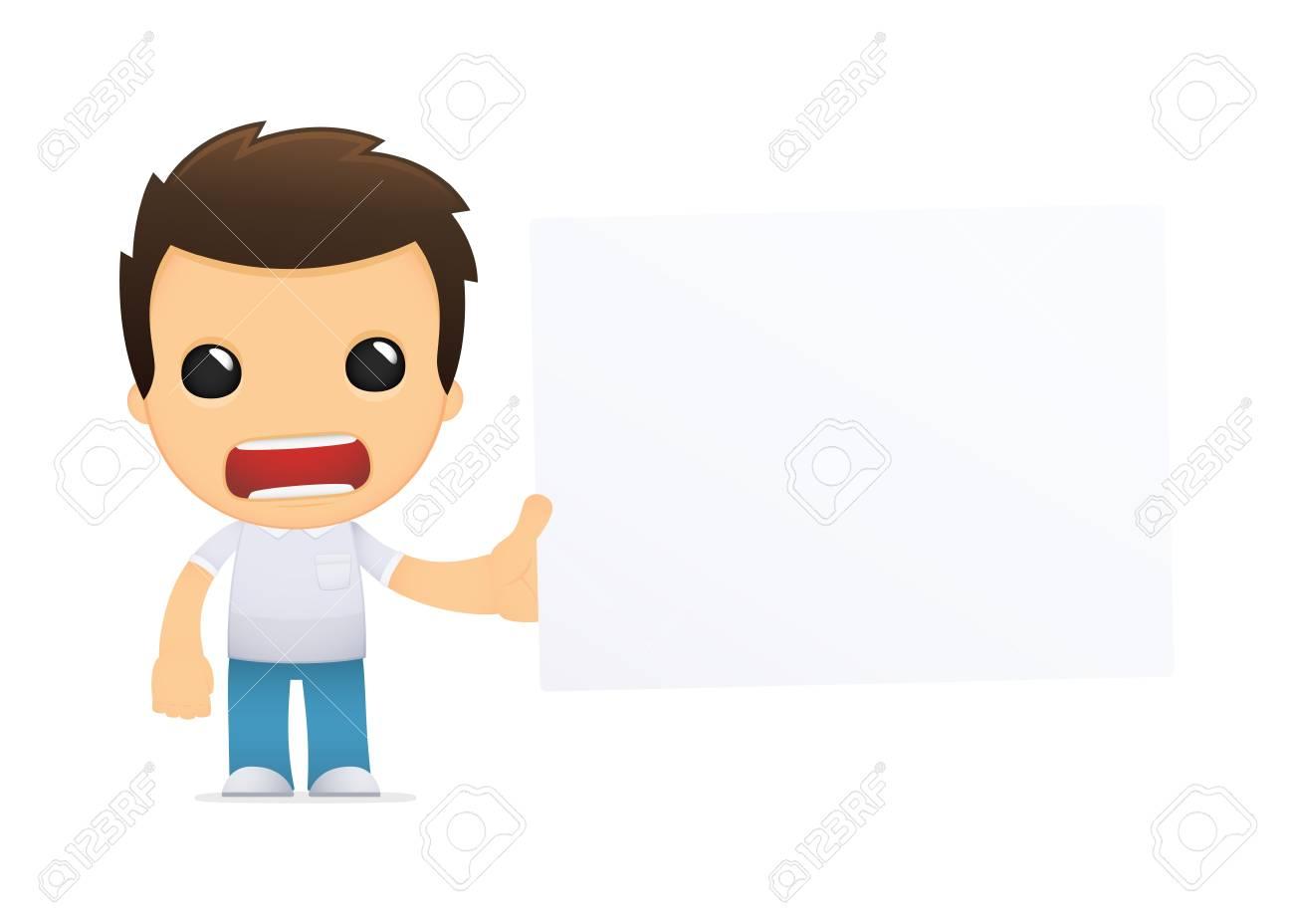 funny cartoon casual man Stock Vector - 13499316