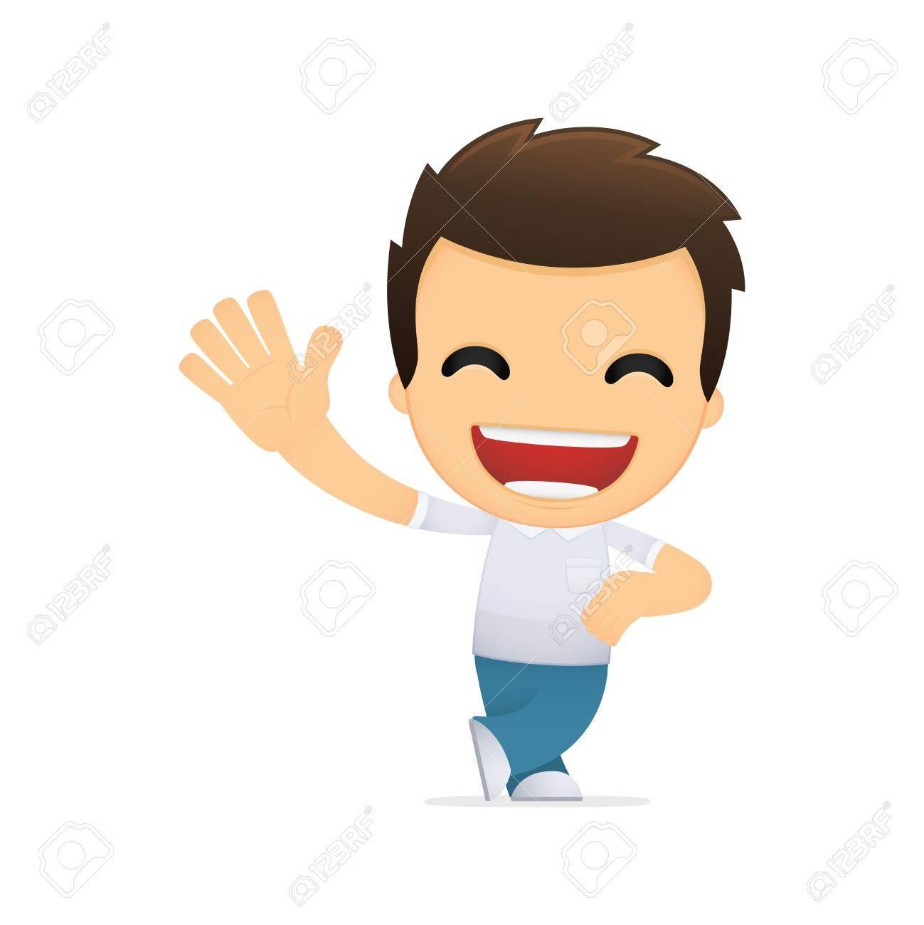 funny cartoon casual man Stock Vector - 13499150