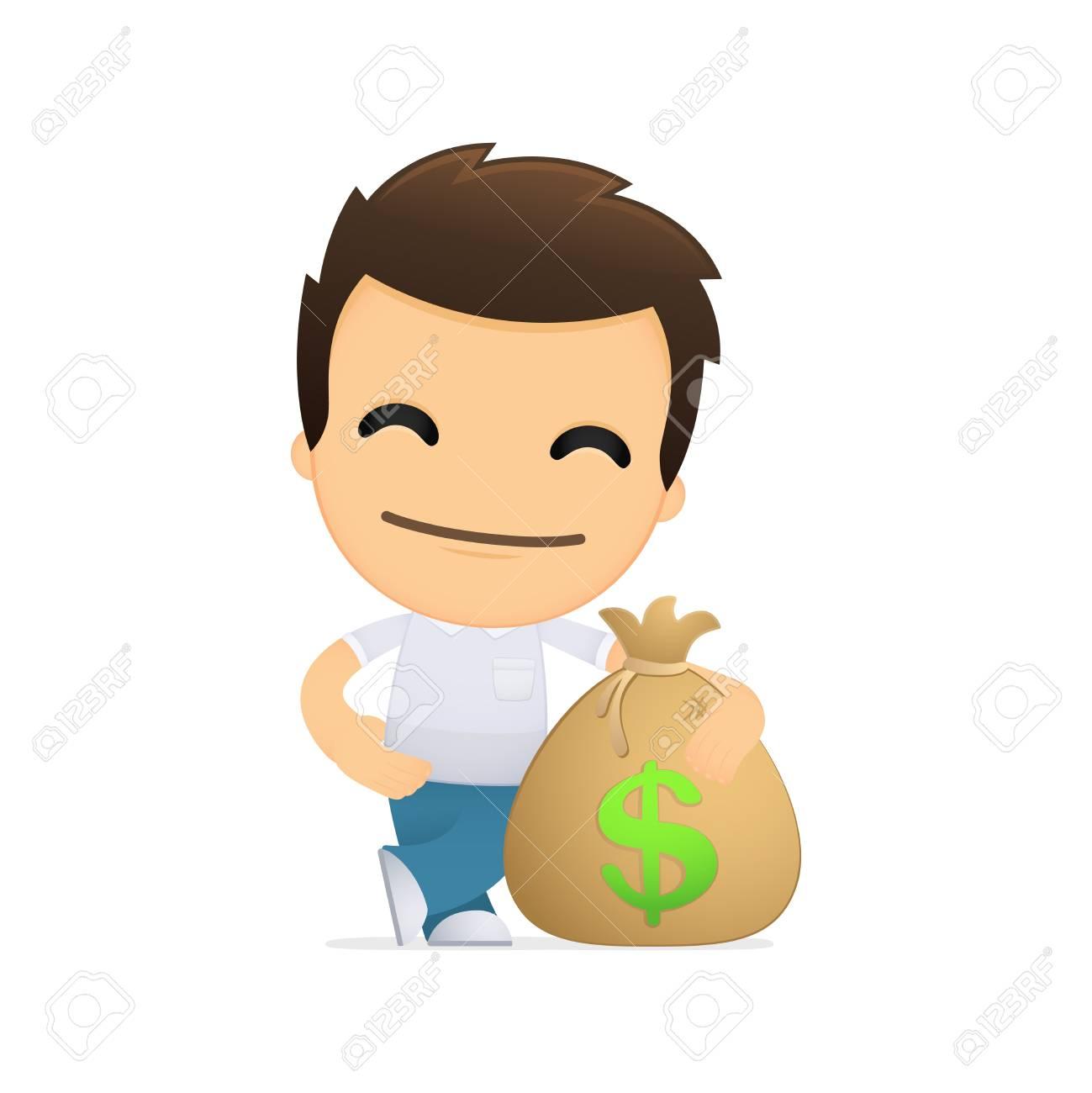 funny cartoon casual man Stock Vector - 13511381