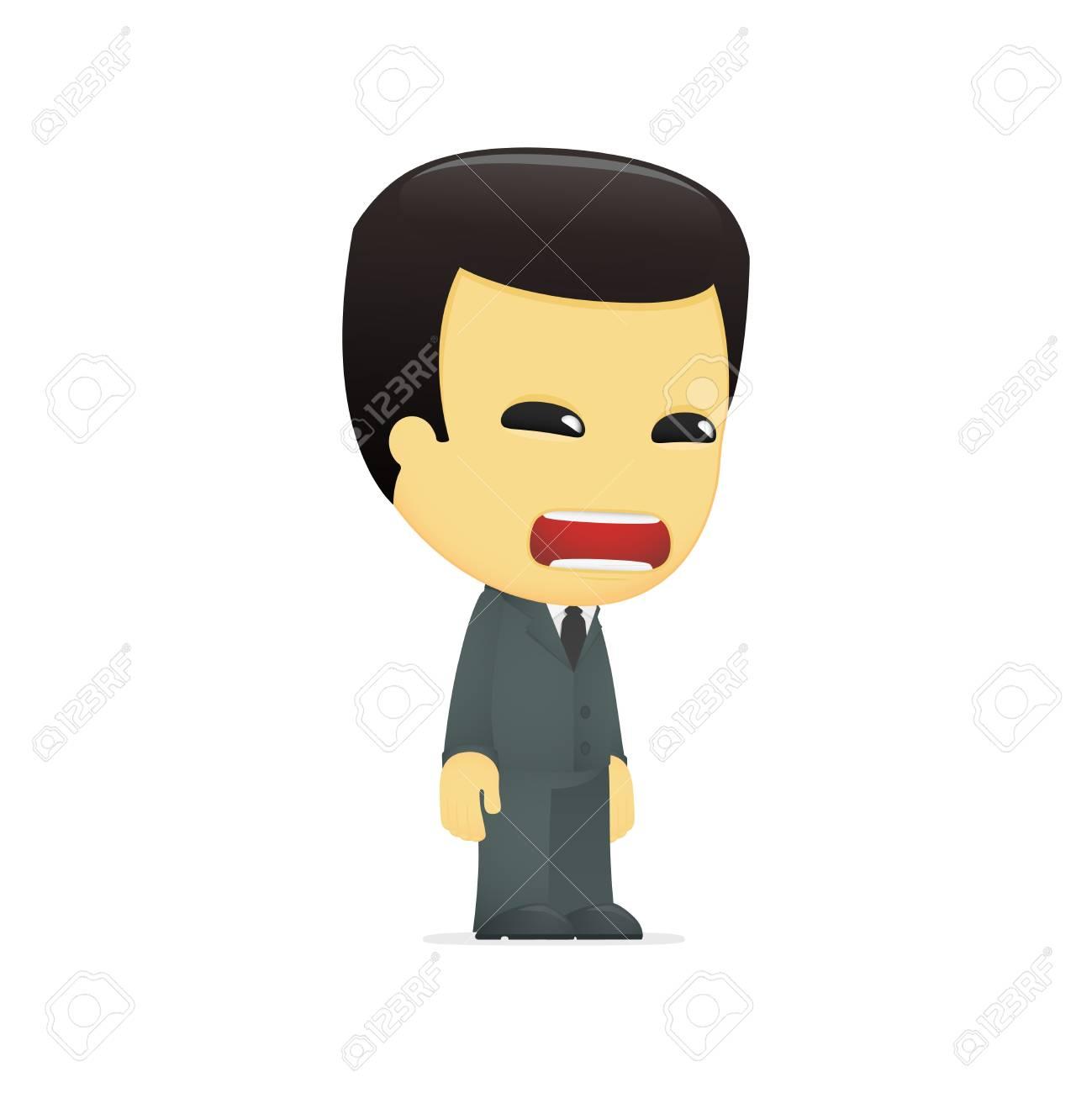 funny cartoon asian businessman Stock Vector - 13690381
