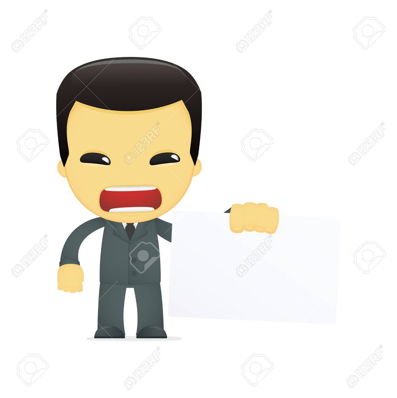 funny cartoon asian businessman Stock Vector - 13690525
