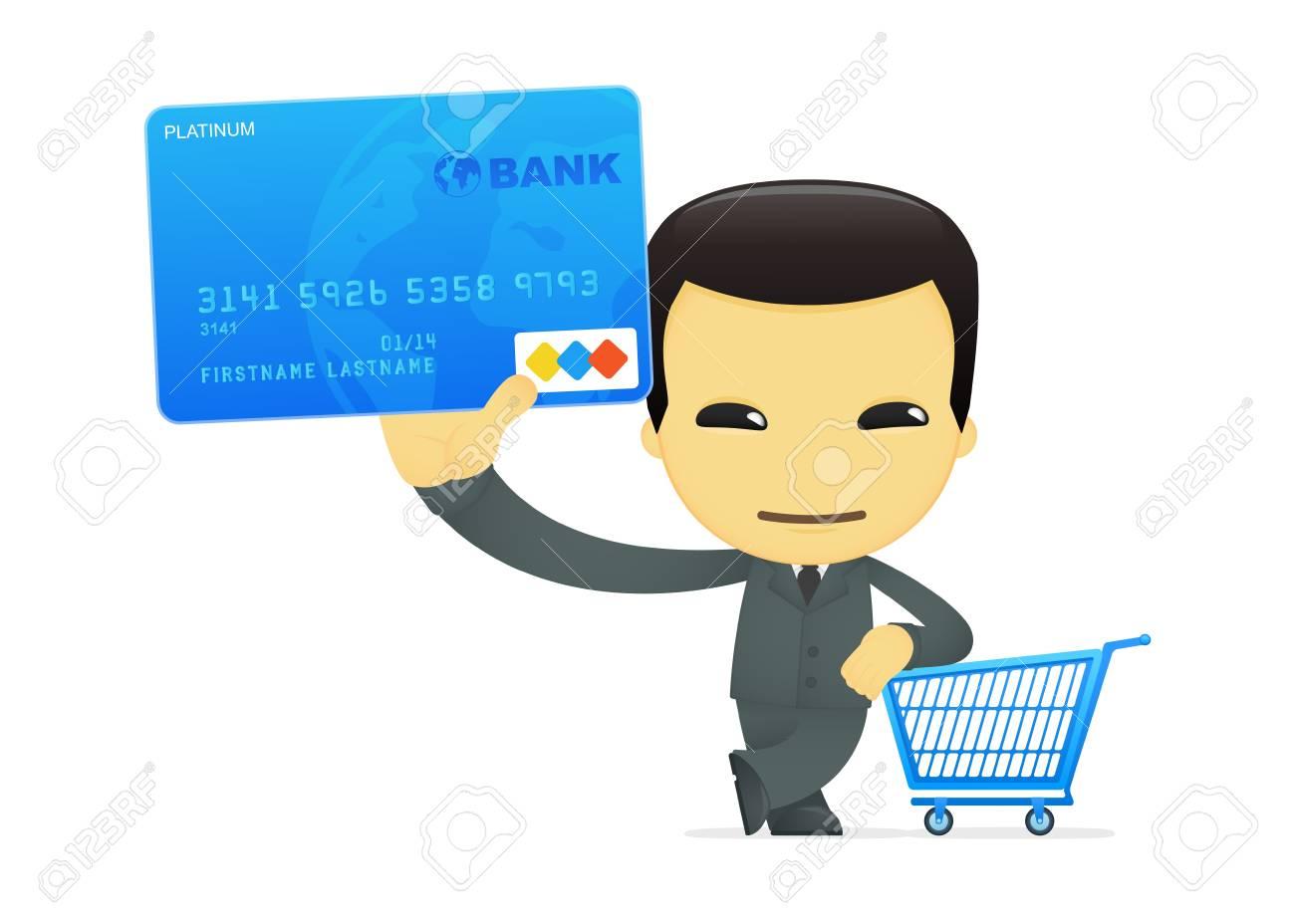 funny cartoon asian businessman Stock Vector - 13693516