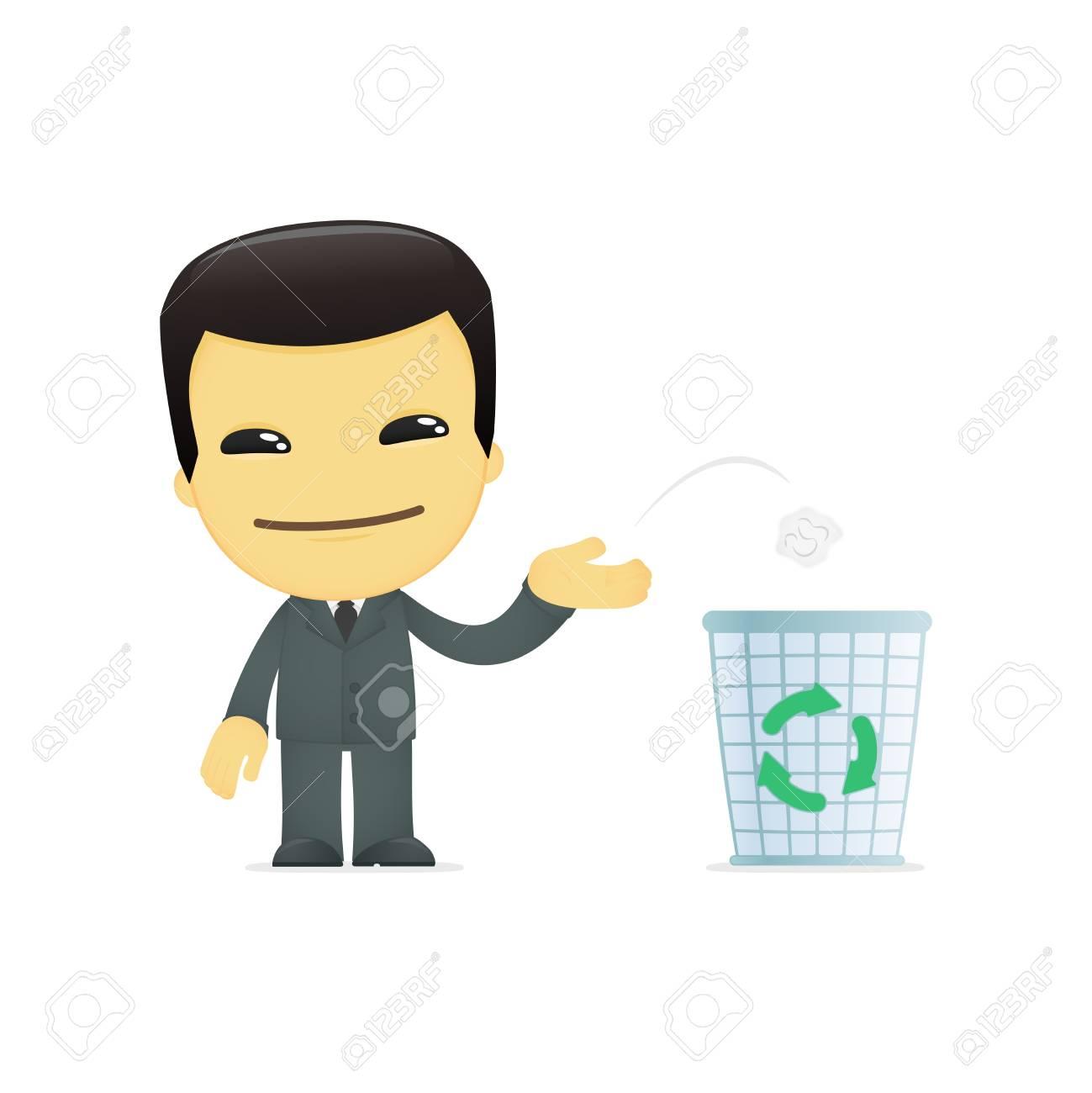 funny cartoon asian businessman Stock Vector - 13692690