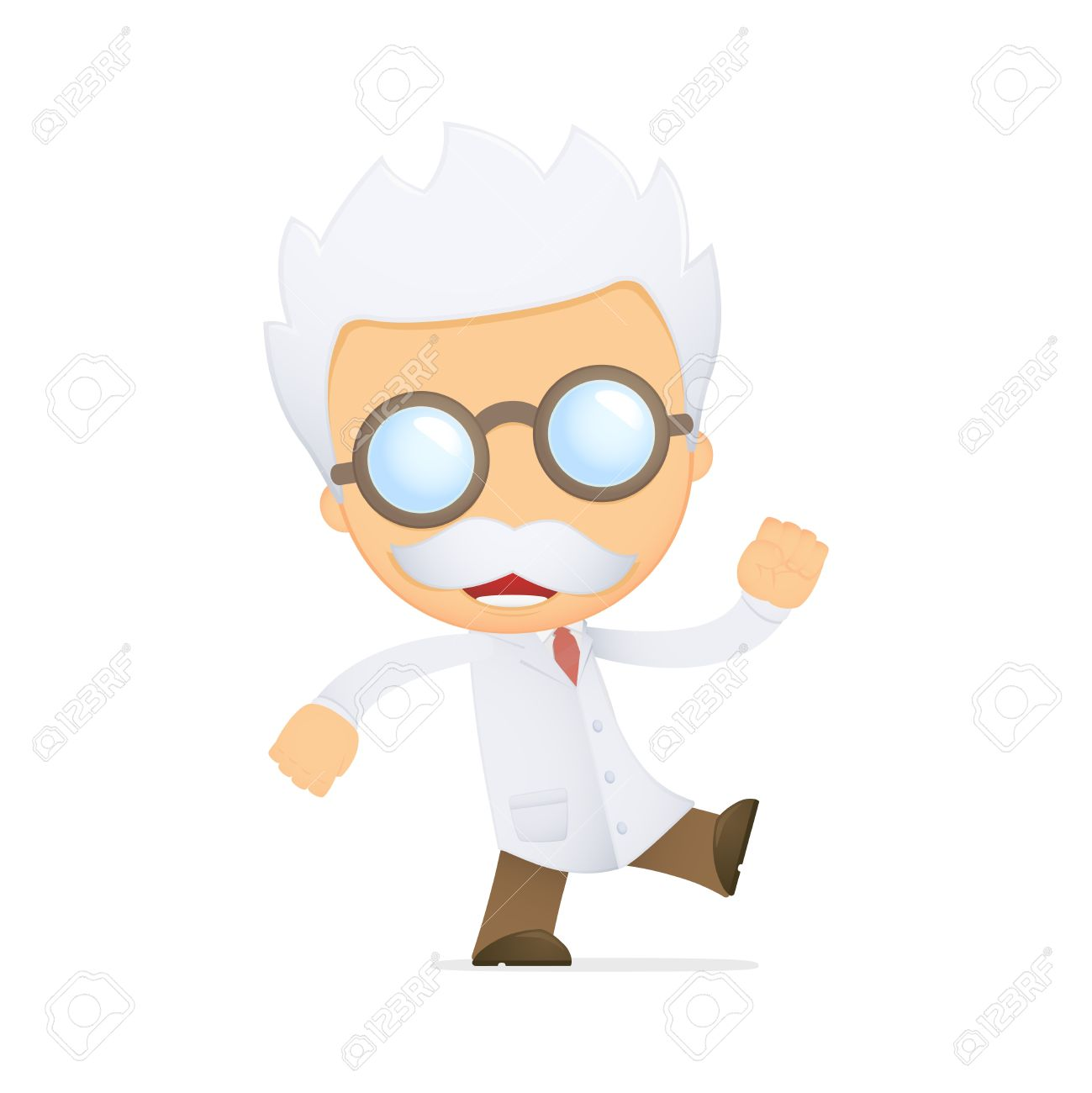 funny cartoon scientist Stock Vector - 13691054