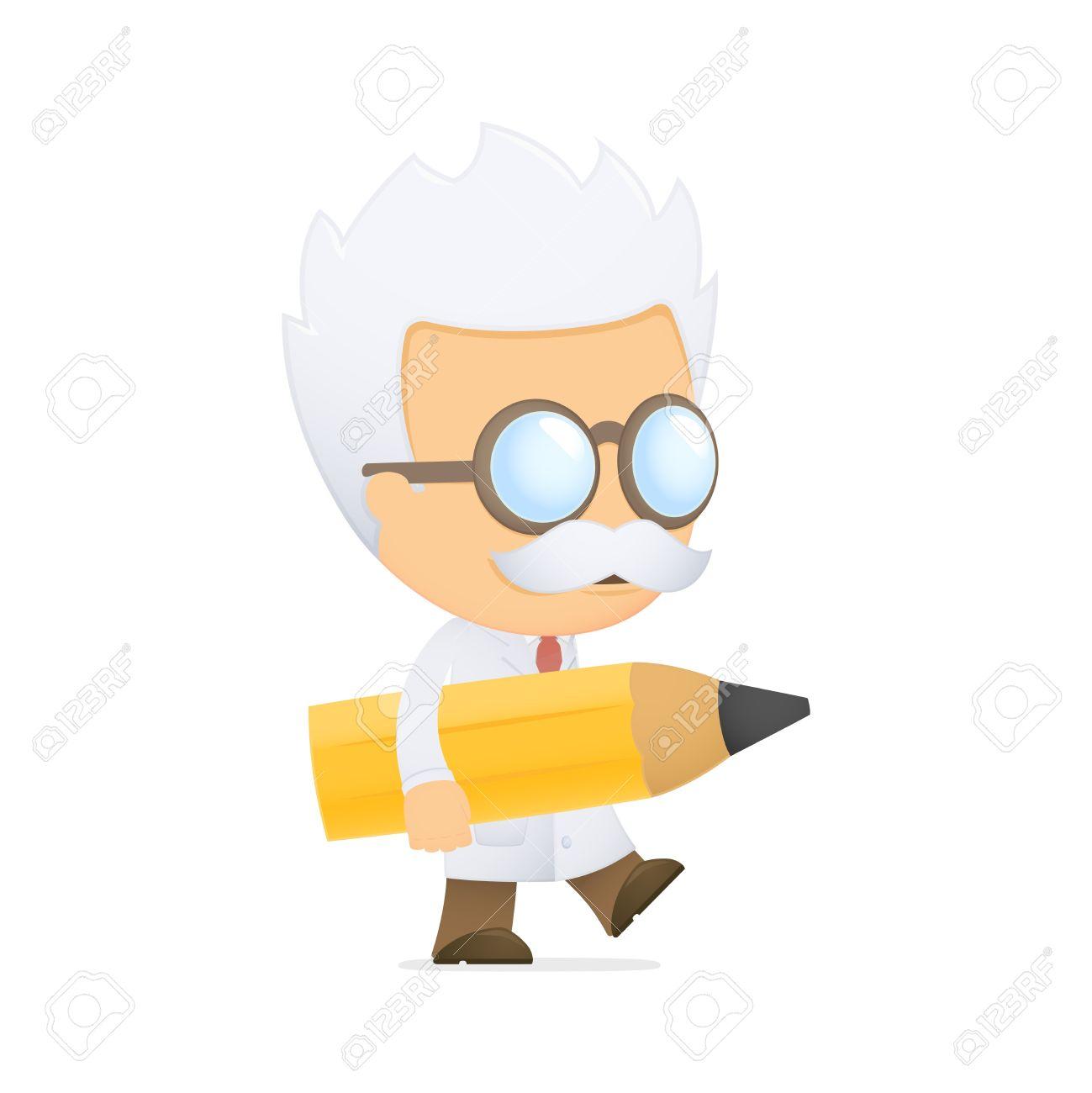 funny cartoon scientist Stock Vector - 13690899