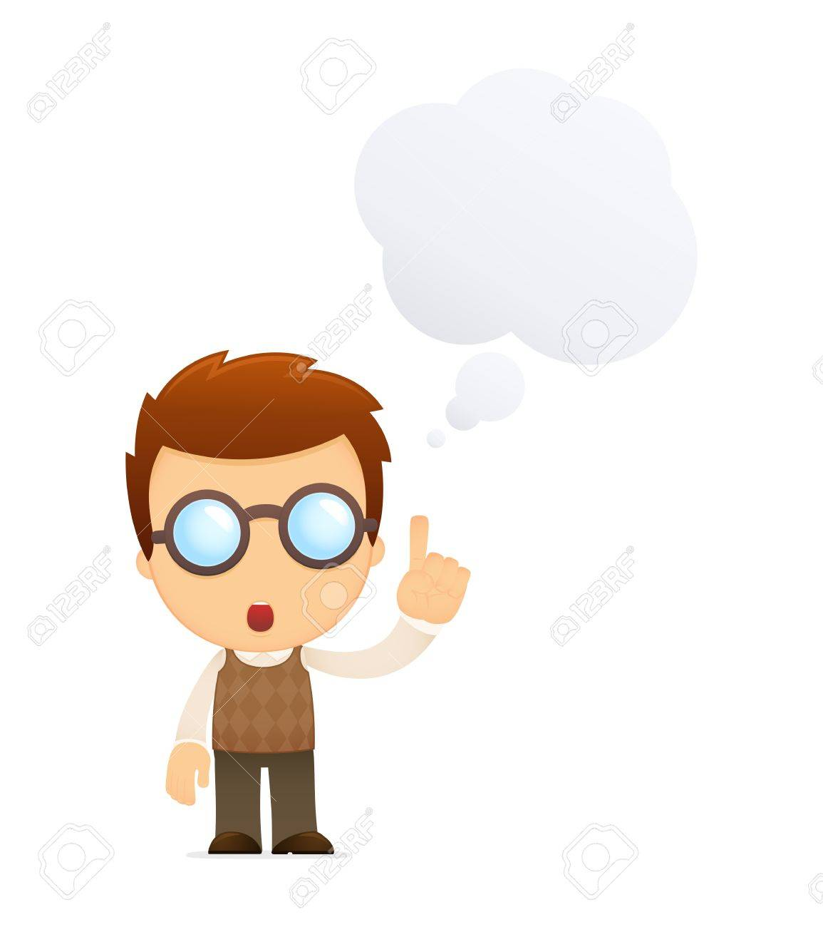 funny cartoon genius Stock Vector - 13697392