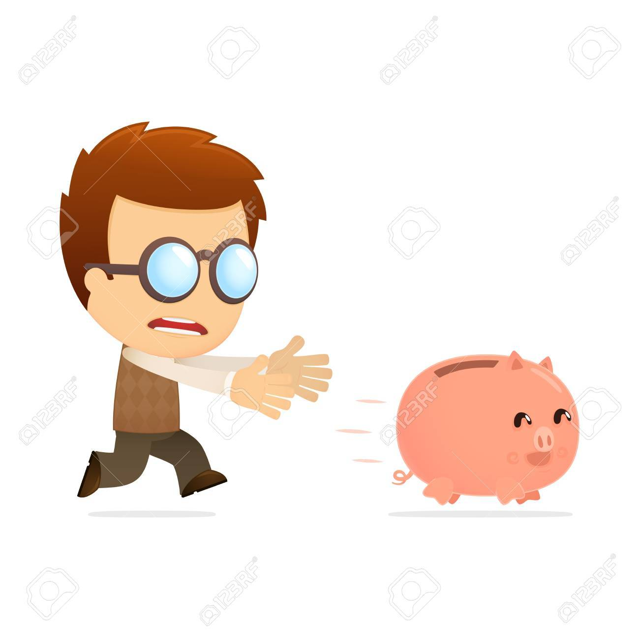 funny cartoon genius Stock Vector - 13698789