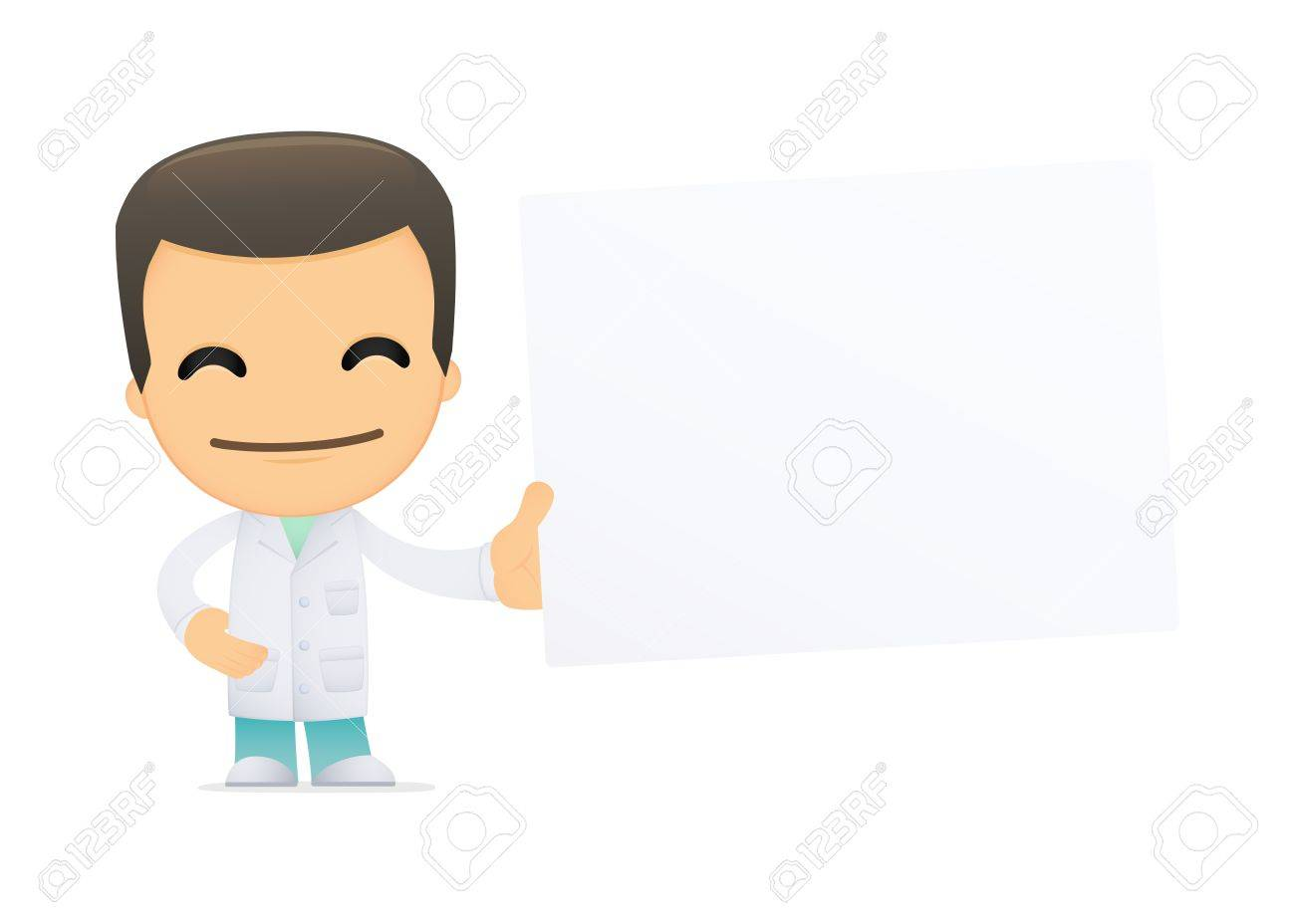 funny cartoon doctor Stock Vector - 13844931