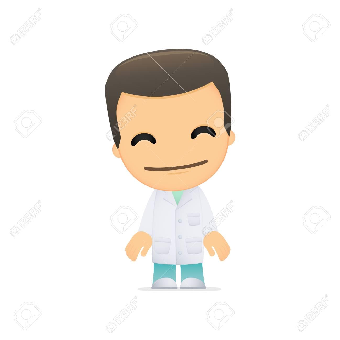 funny cartoon doctor Stock Vector - 13844918