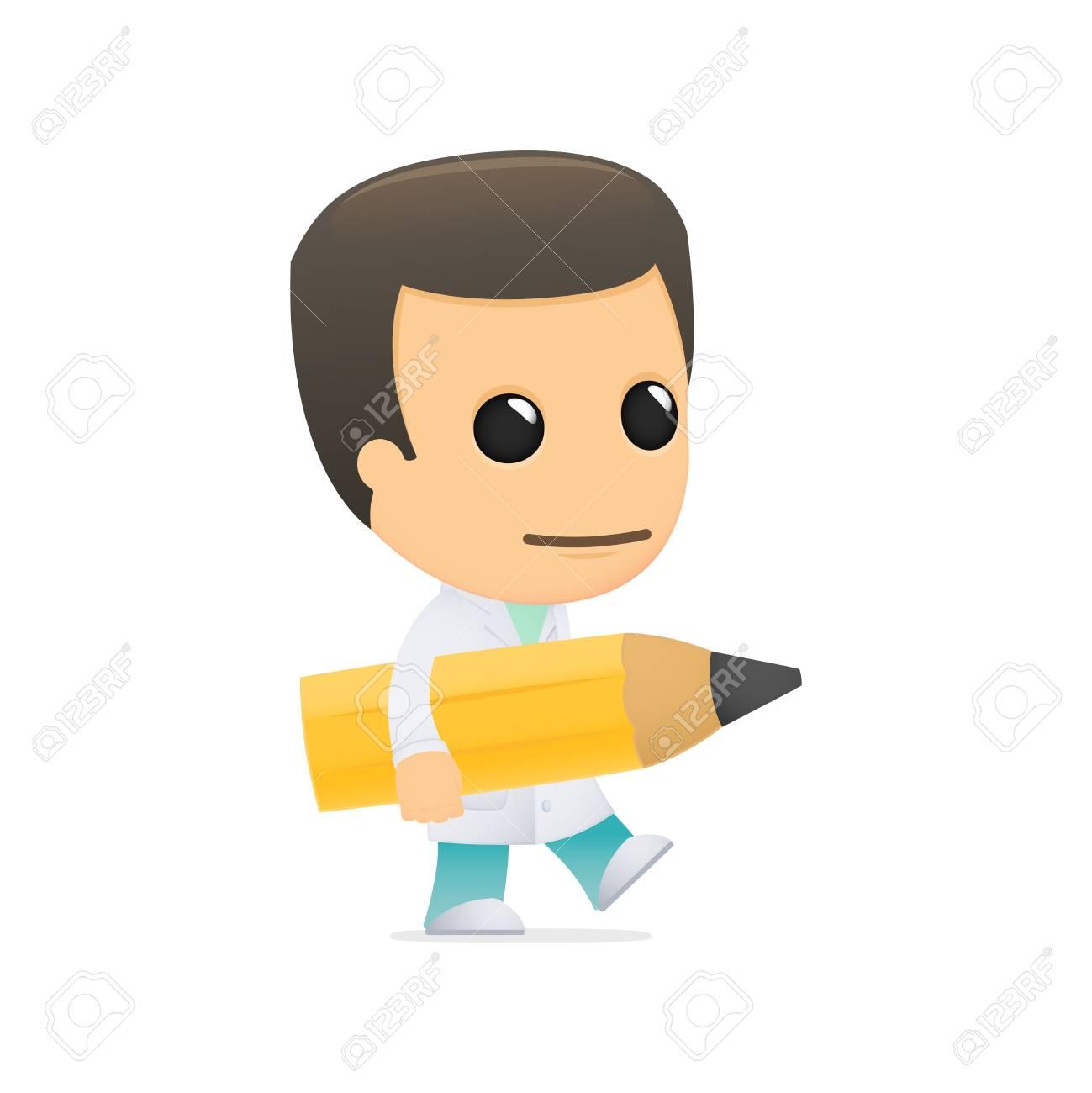 funny cartoon doctor Stock Vector - 13845018