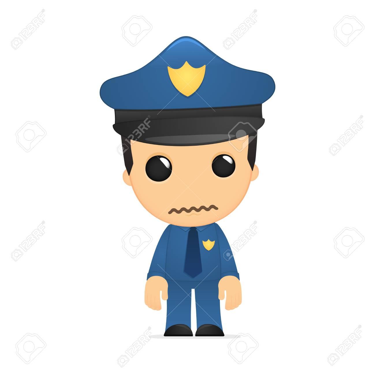 funny cartoon policeman Stock Vector - 13889759