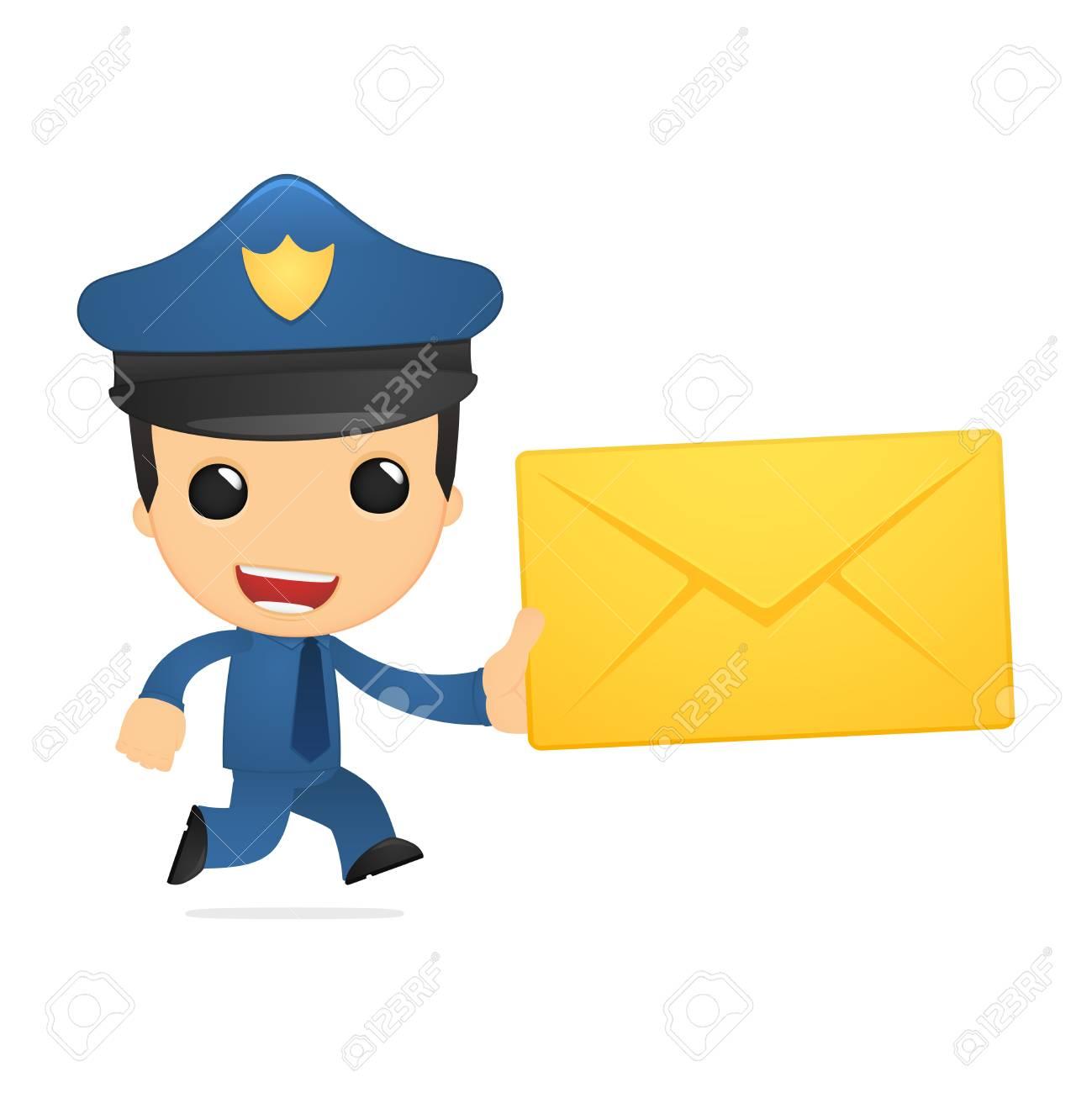 funny cartoon policeman Stock Vector - 13889942