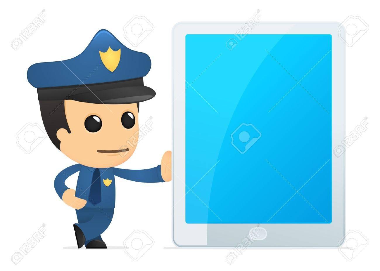 funny cartoon policeman Stock Vector - 13889997