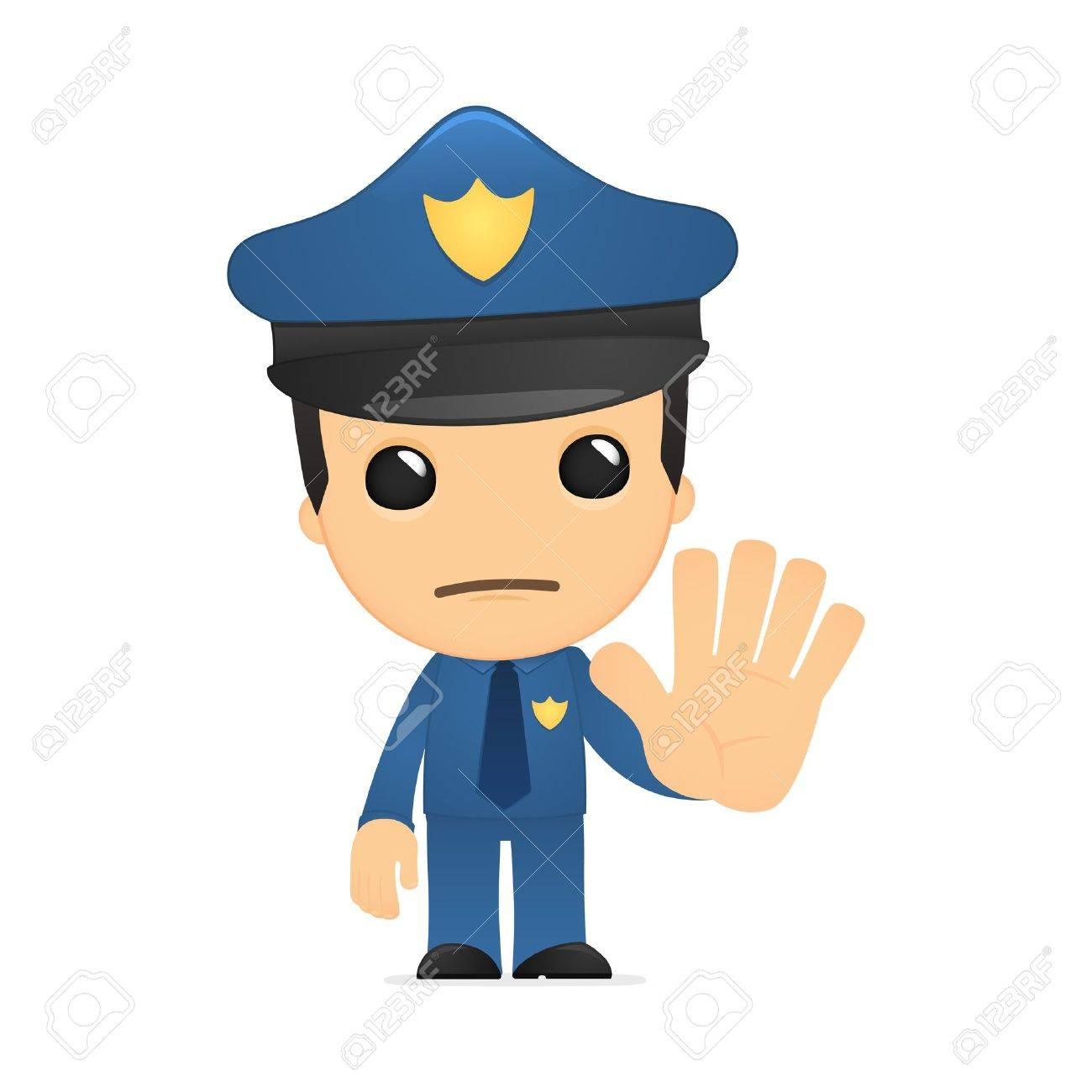 funny cartoon policeman Stock Vector - 13889730