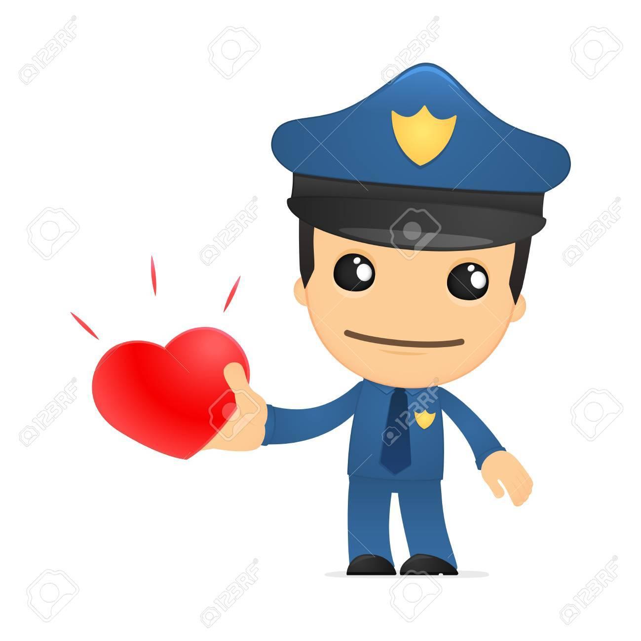 funny cartoon policeman Stock Vector - 13889916