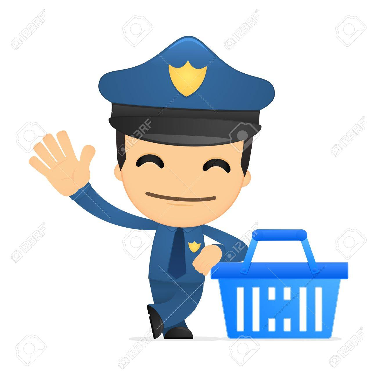 funny cartoon policeman Stock Vector - 13889950
