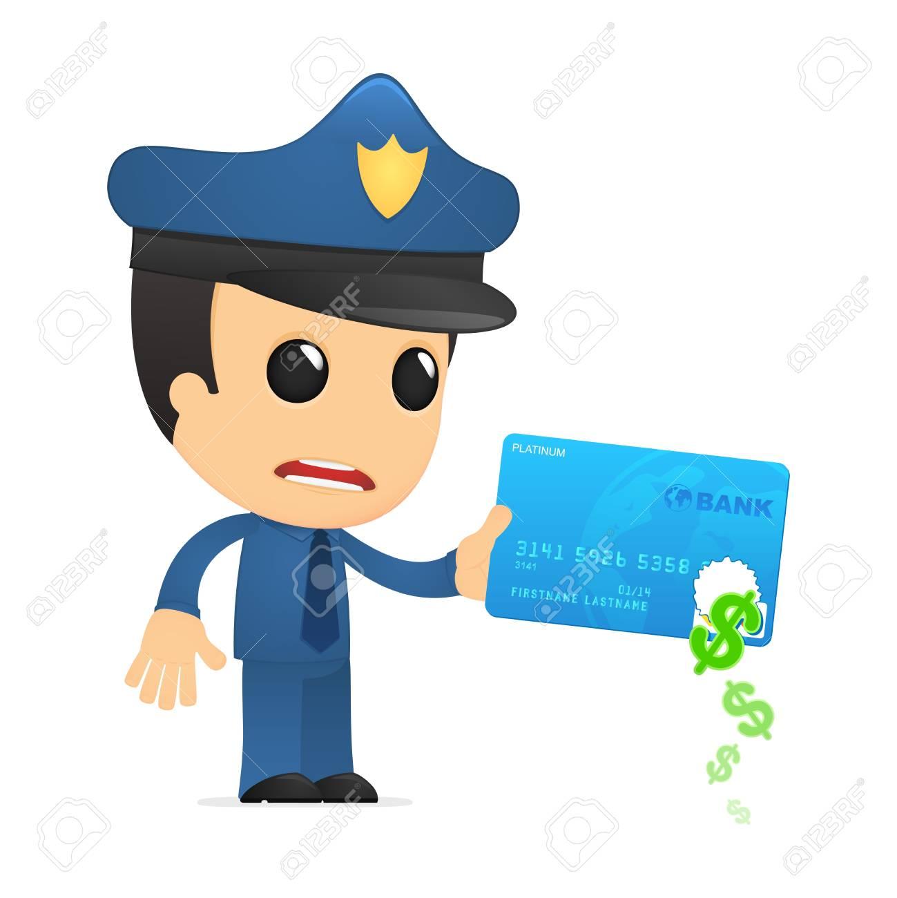 funny cartoon policeman Stock Vector - 13890162