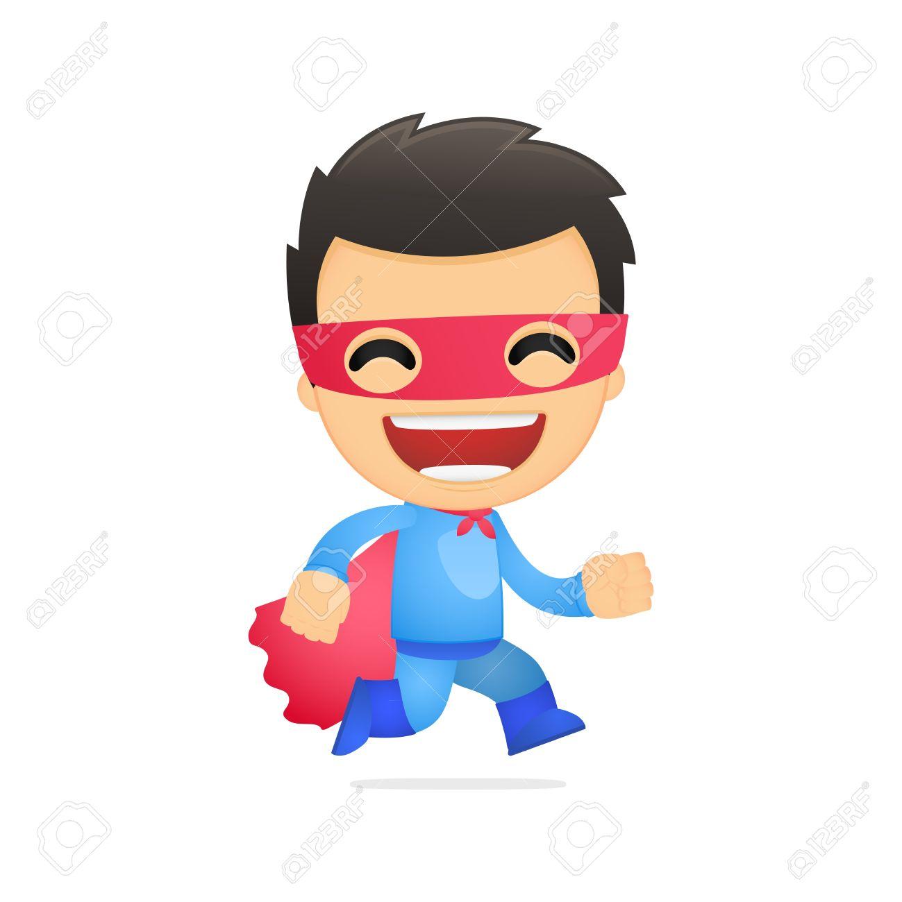 Funny Cartoon Superhero Royalty Free Cliparts, Vectors, And Stock ...