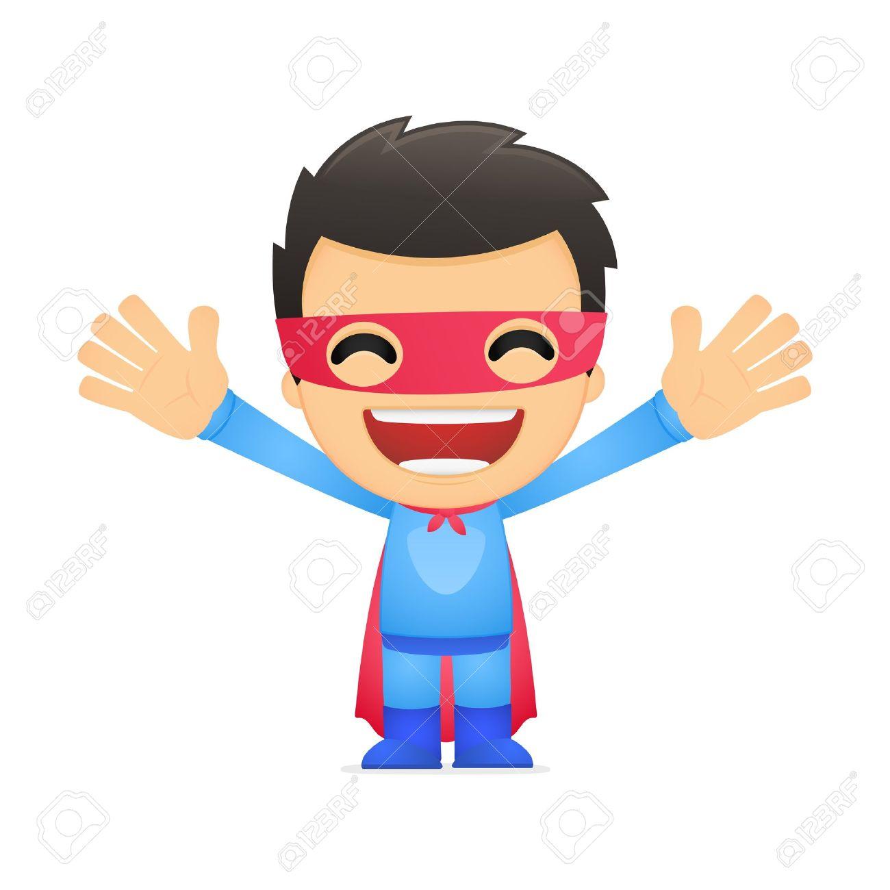 funny cartoon superhero Stock Vector - 13890204