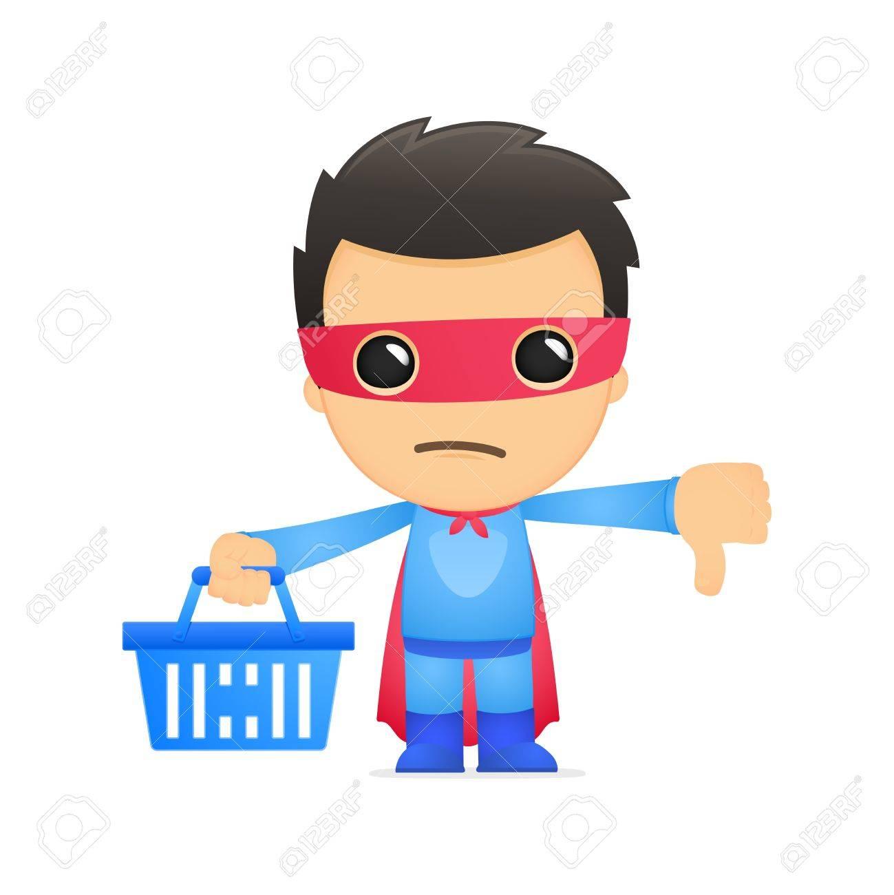 funny cartoon superhero Stock Vector - 13890327
