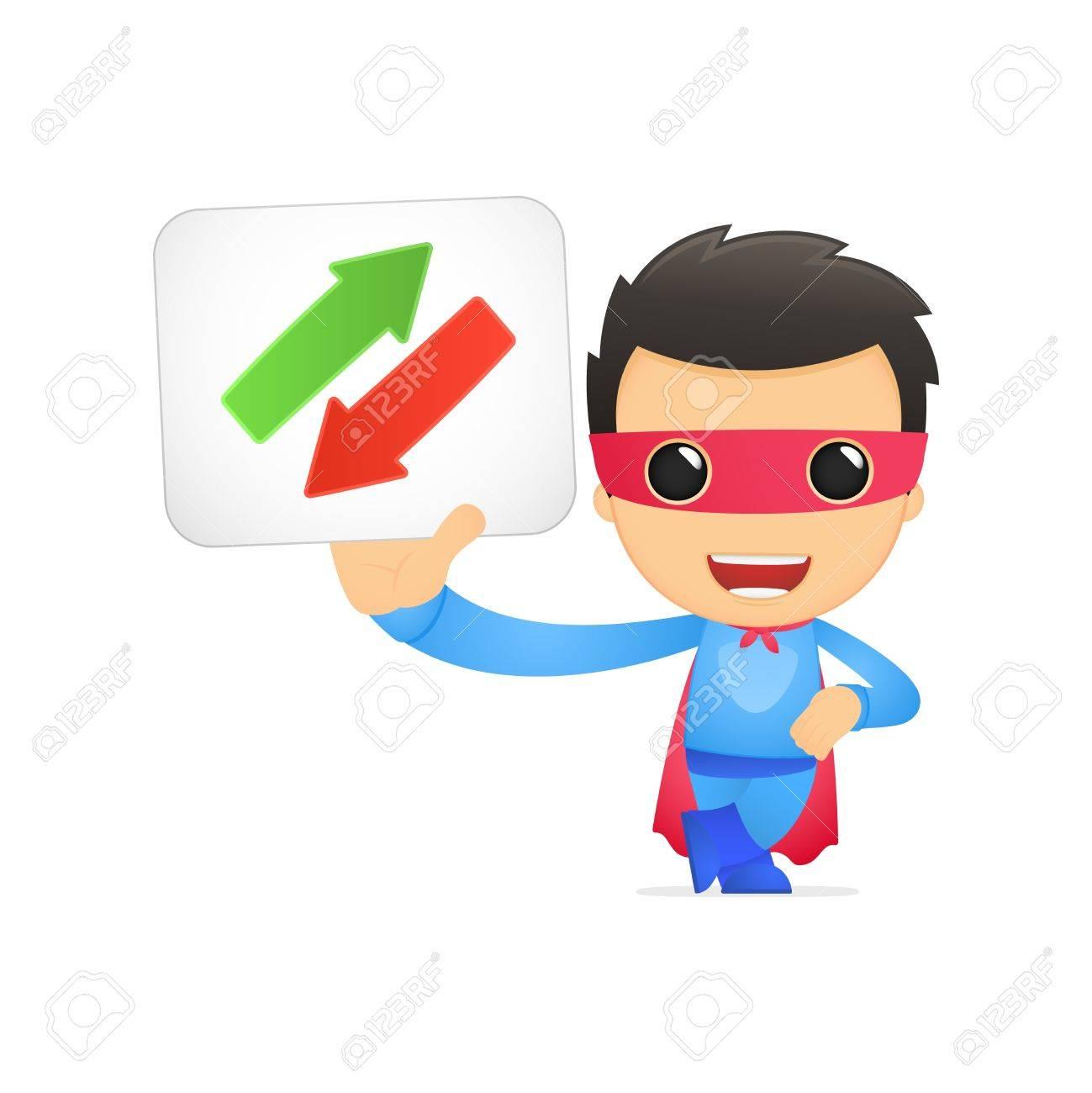 funny cartoon superhero Stock Vector - 13890345