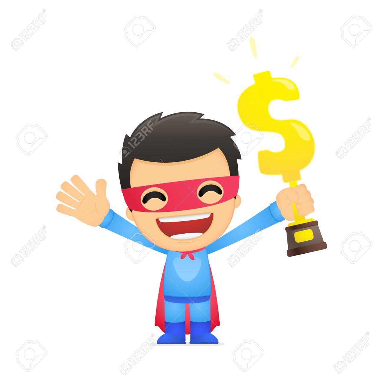 funny cartoon superhero Stock Vector - 13890305