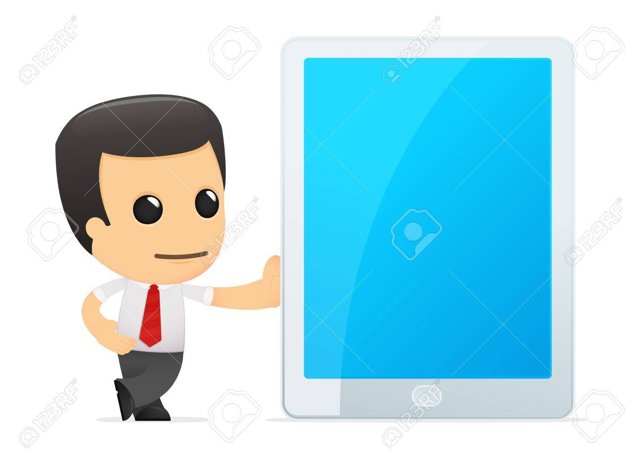 funny cartoon manager in various poses for use in advertising, presentations, brochures, blogs, documents and forms, etc. Stock Vector - 14074917