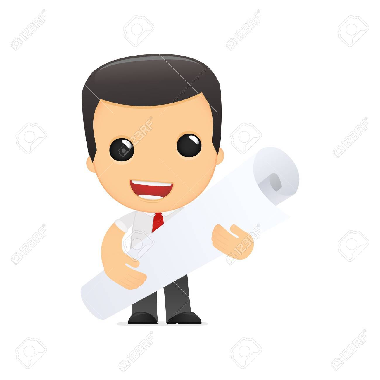 funny cartoon manager in various poses for use in advertising, presentations, brochures, blogs, documents and forms, etc. Stock Vector - 14074775