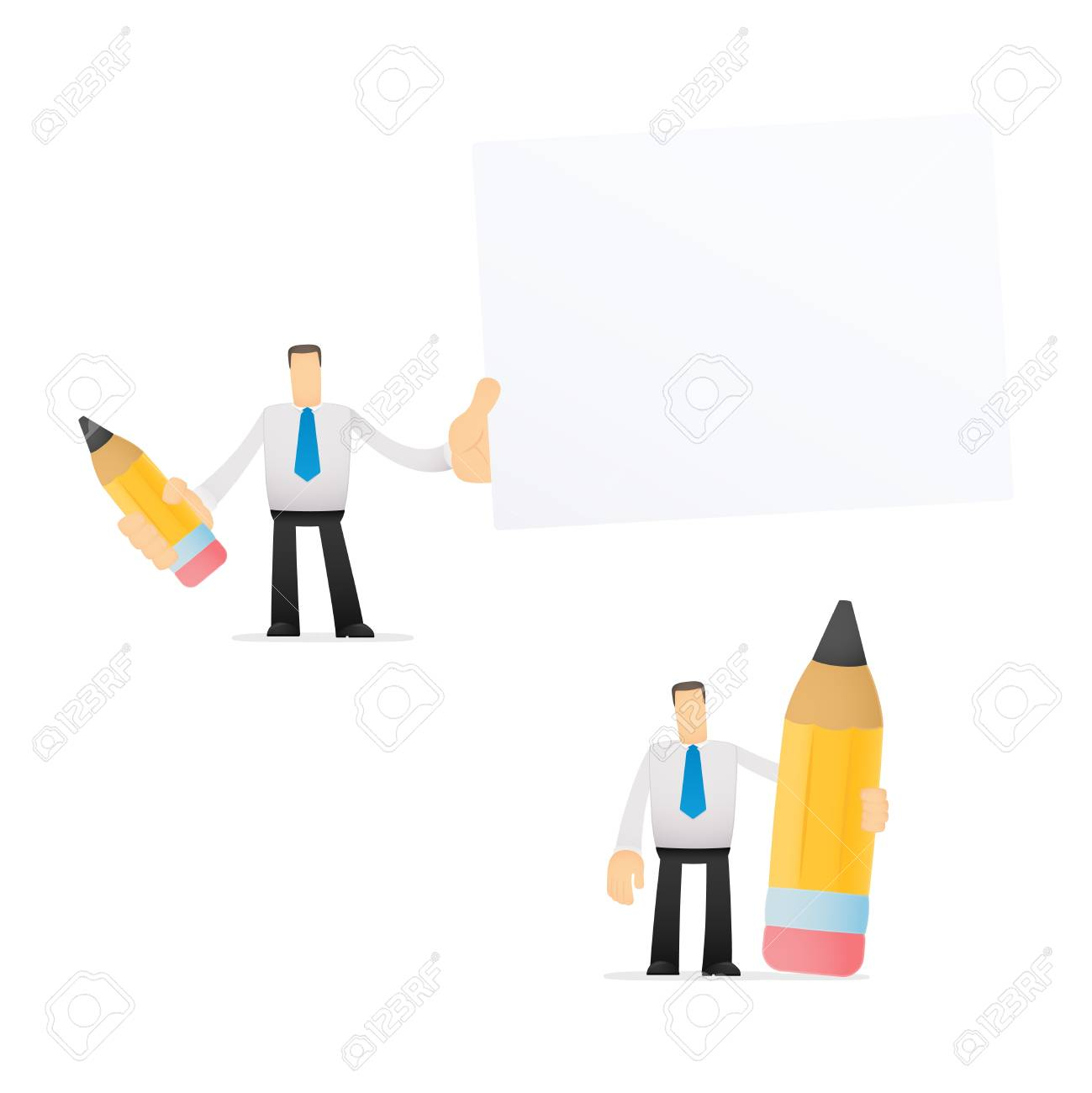 funny cartoon office worker Stock Vector - 14592978