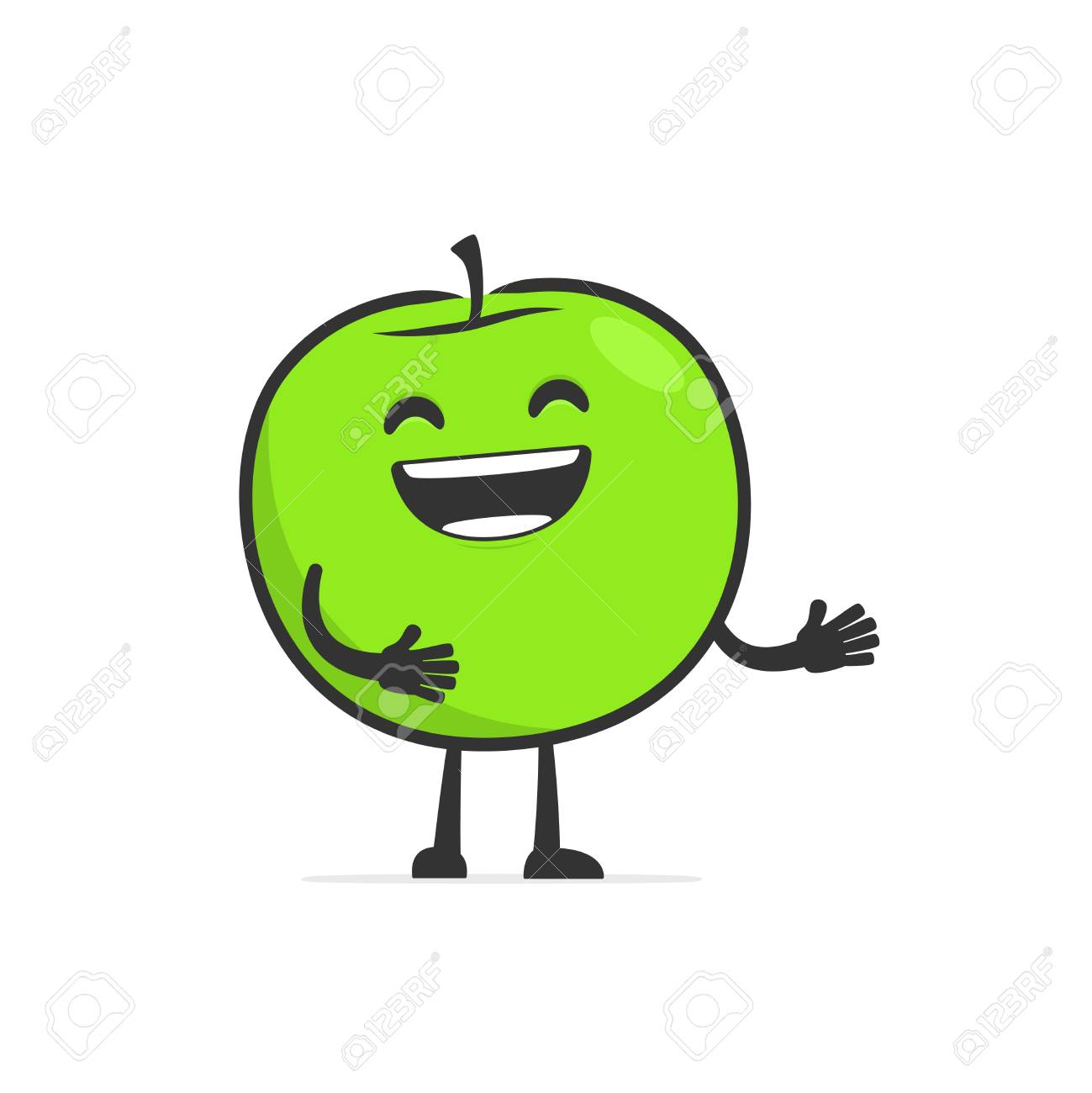funny cartoon apple Stock Vector - 14773056