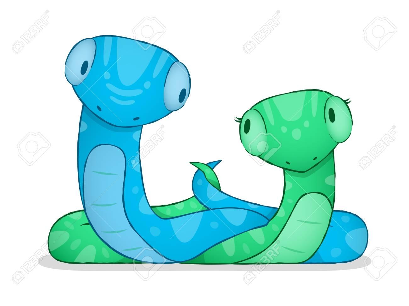 cartoon snake Stock Vector - 14773079