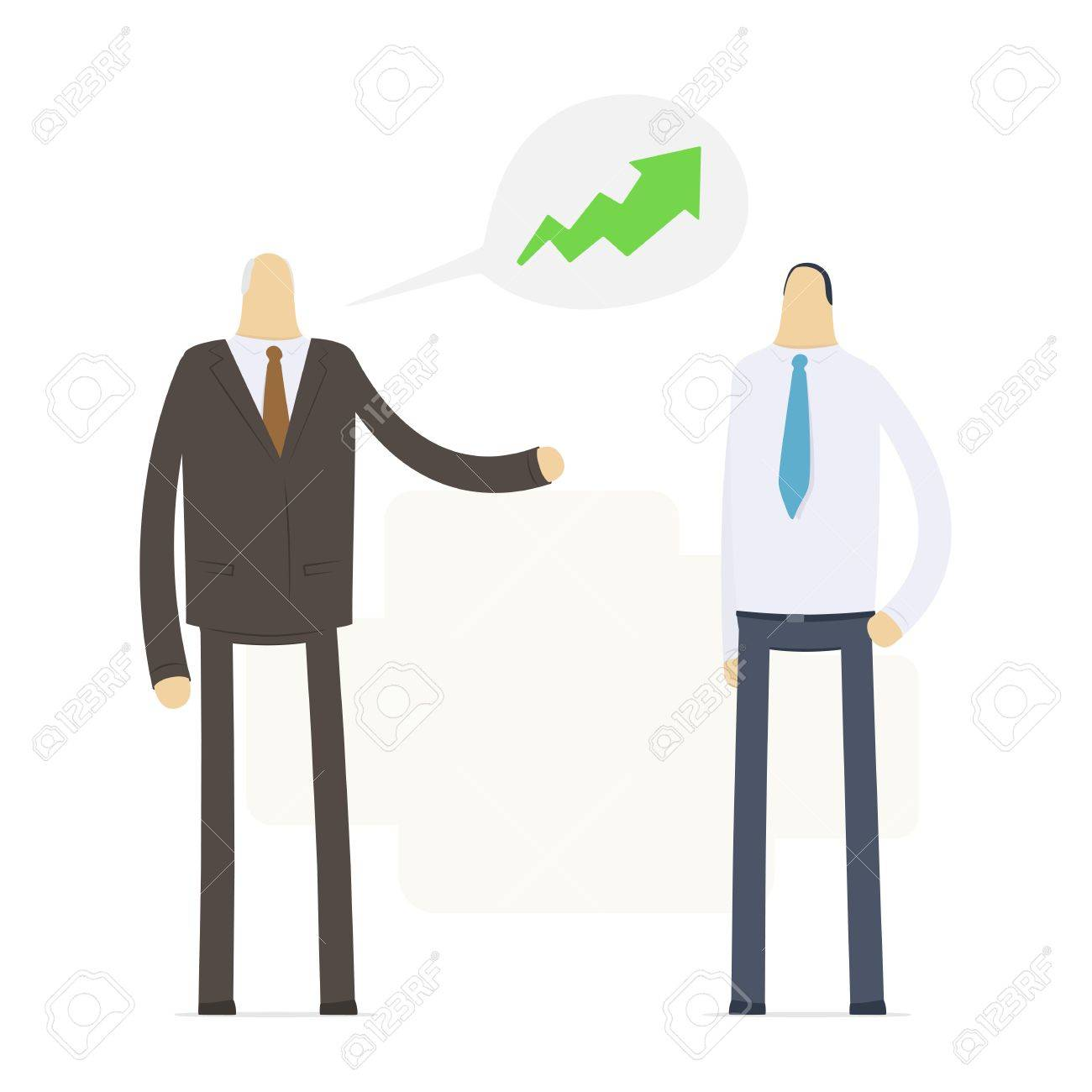 boss praises an employee for good performance royalty boss praises an employee for good performance stock vector 16550138
