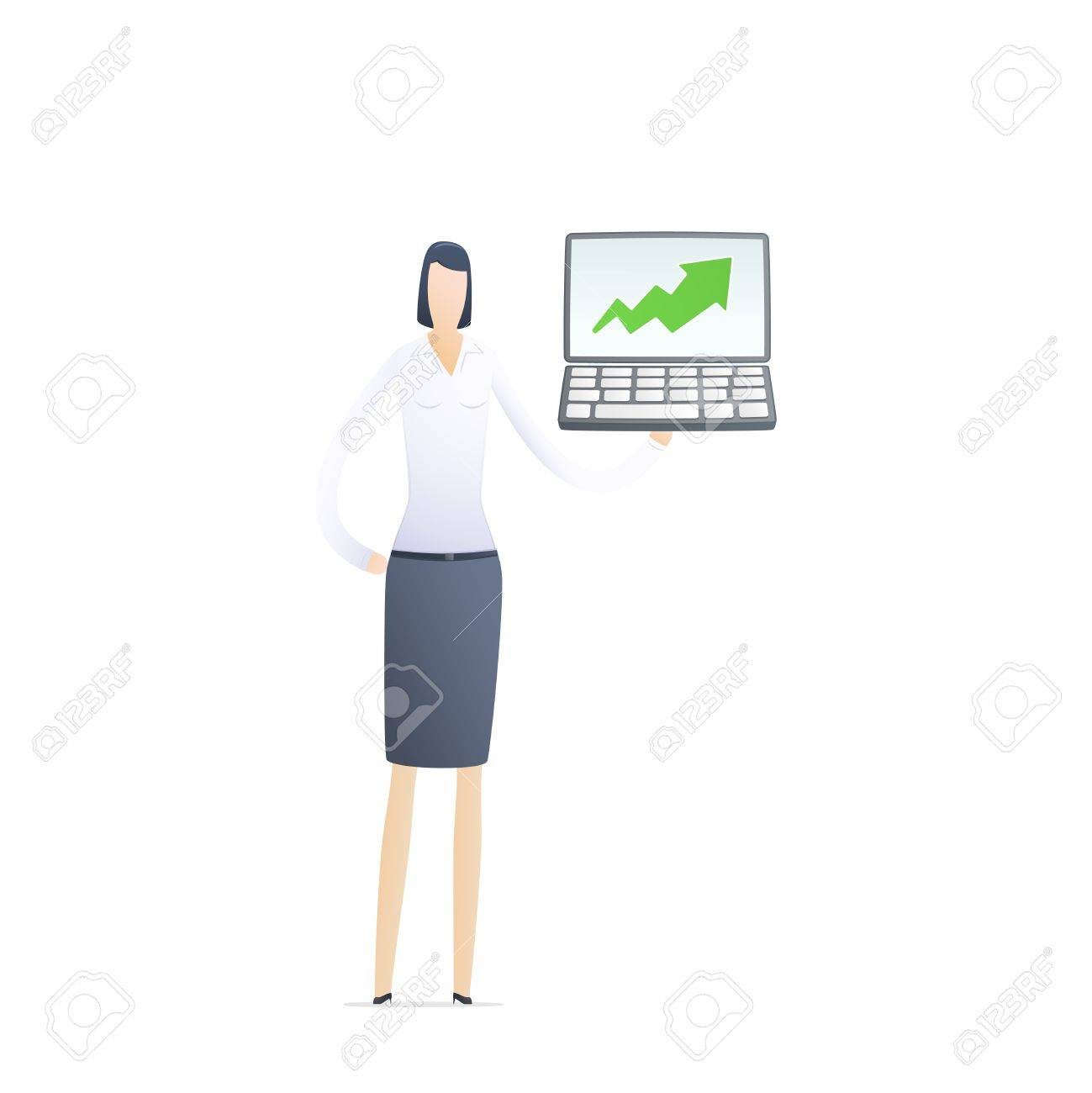 female manager gives good results Stock Vector - 17580303