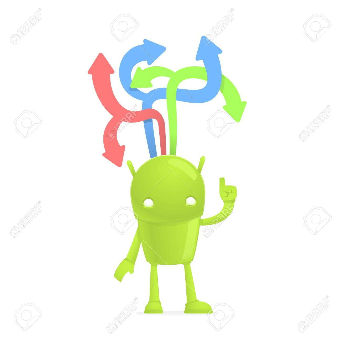 funny cartoon android Stock Vector - 17655294