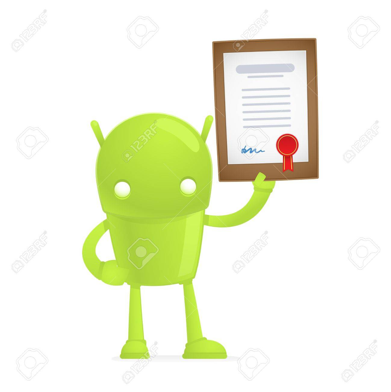 funny cartoon android Stock Vector - 17655322