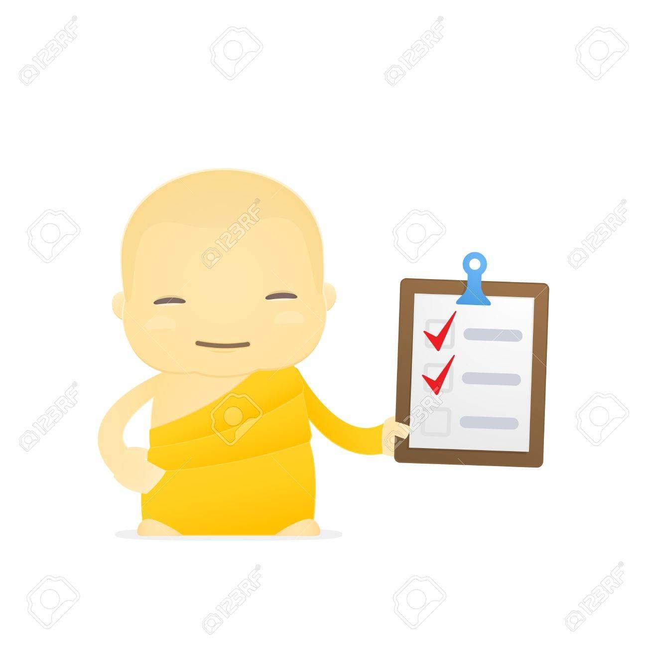 cartoon monk Stock Vector - 17655003