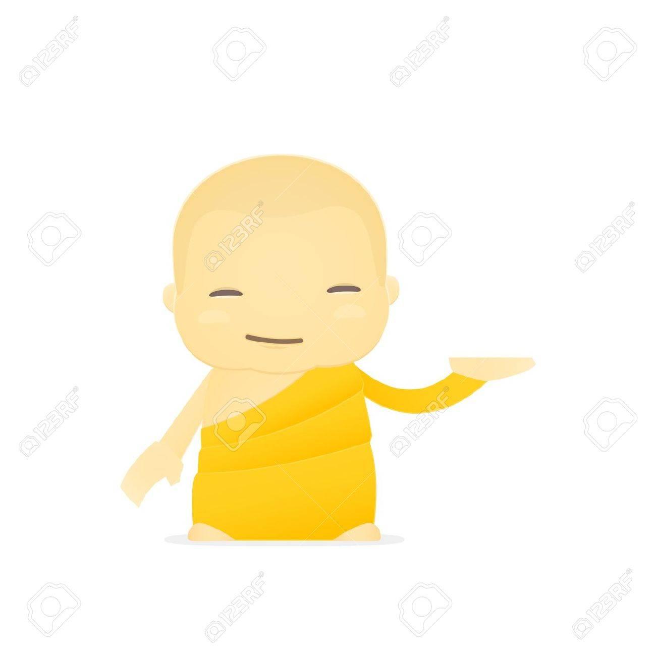 cartoon monk Stock Vector - 17654496