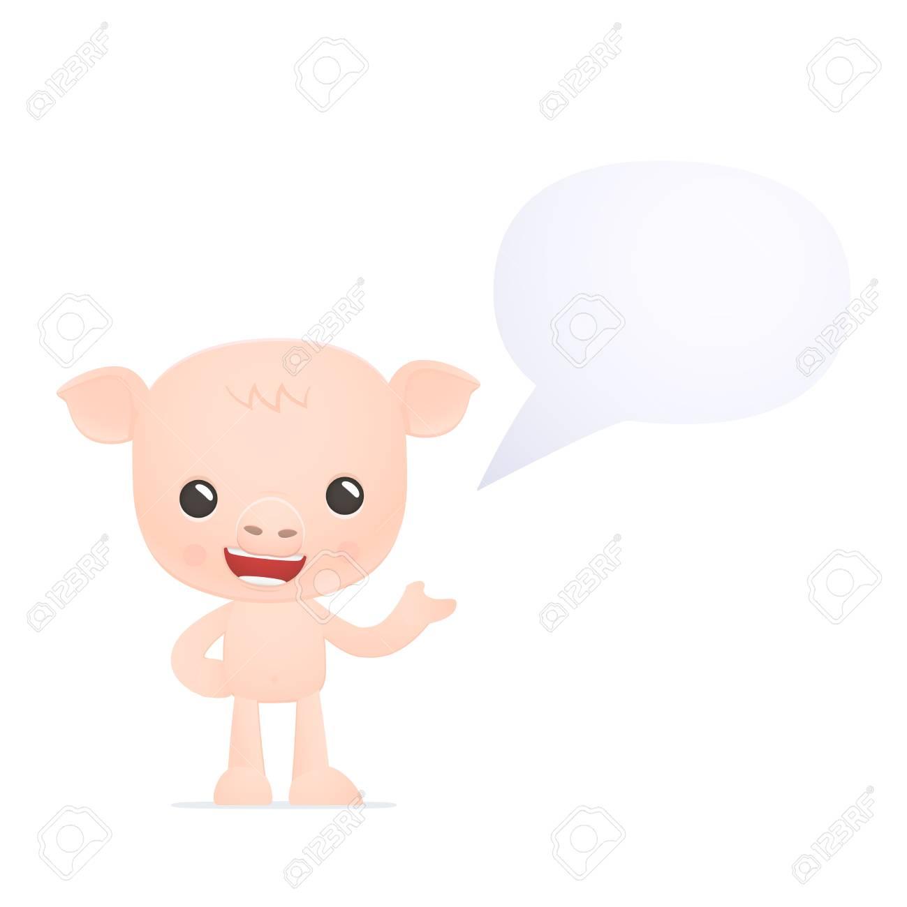 funny cartoon pig Stock Vector - 18009329