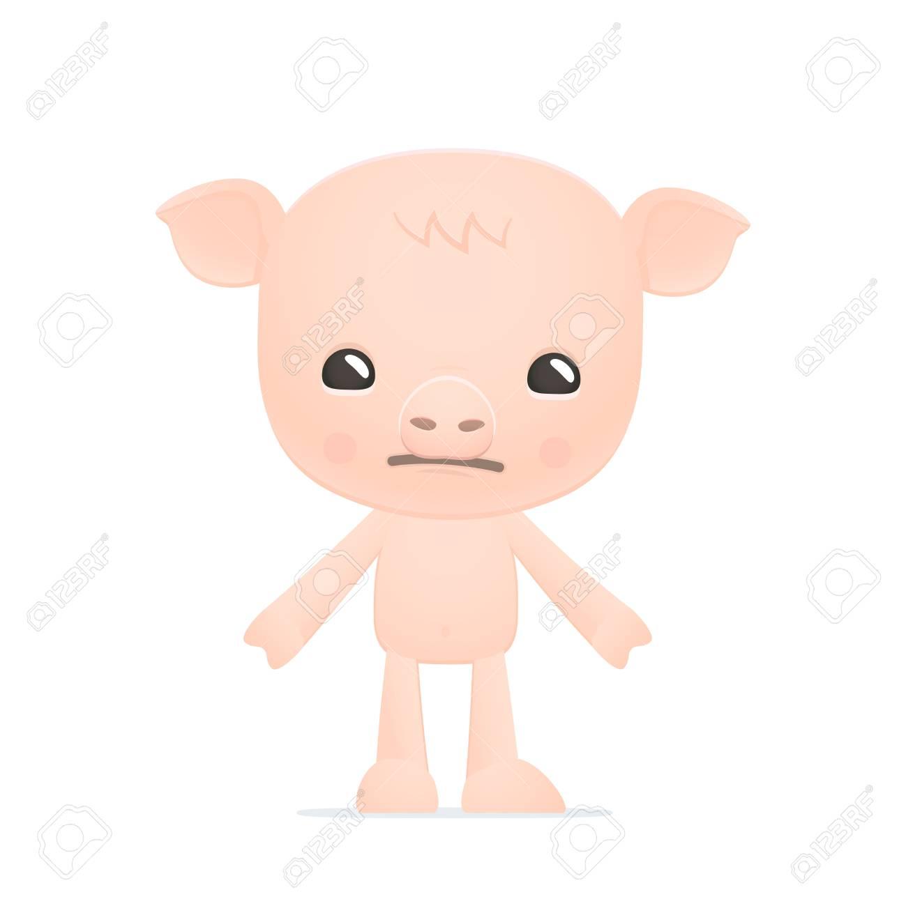 funny cartoon pig Stock Vector - 18009274