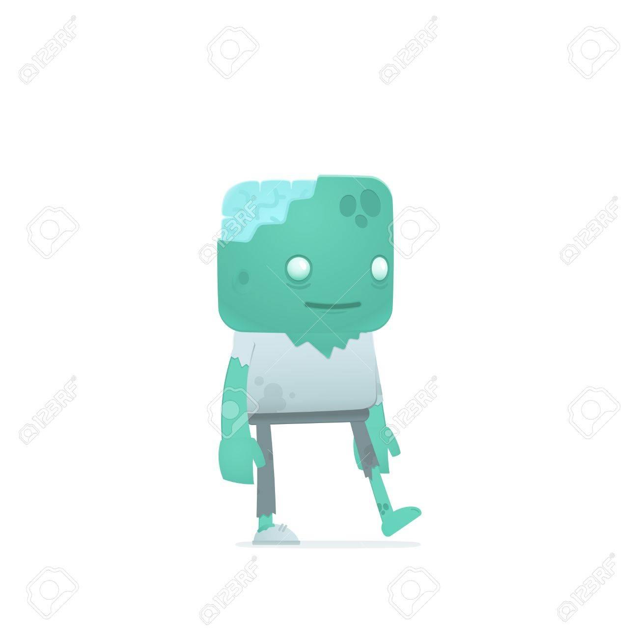 funny cartoon zombie Stock Vector - 18009366