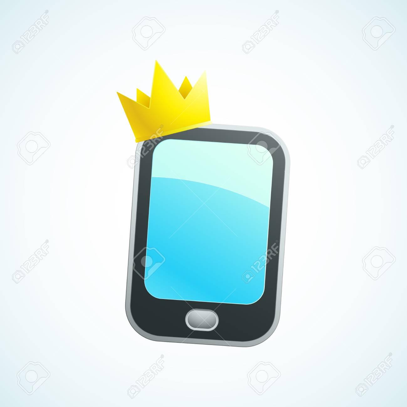 king phone Stock Vector - 18759212