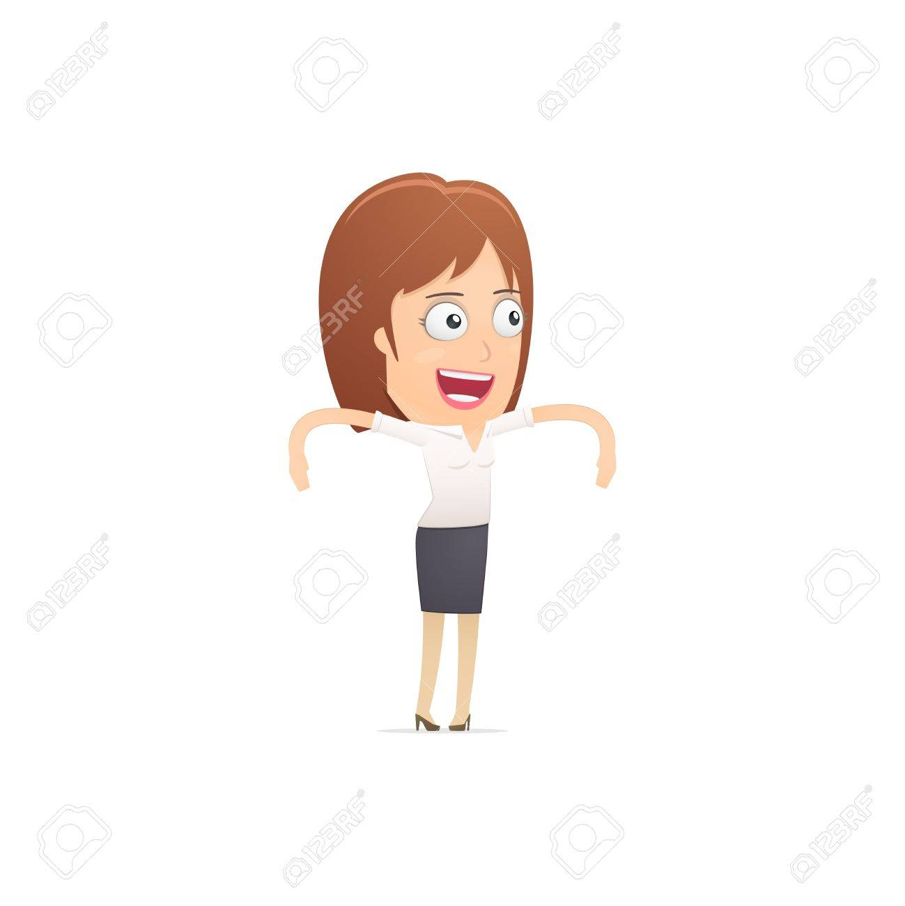 Girl manager, suitable for use in dialogs with other characters. Stock Vector - 21846500