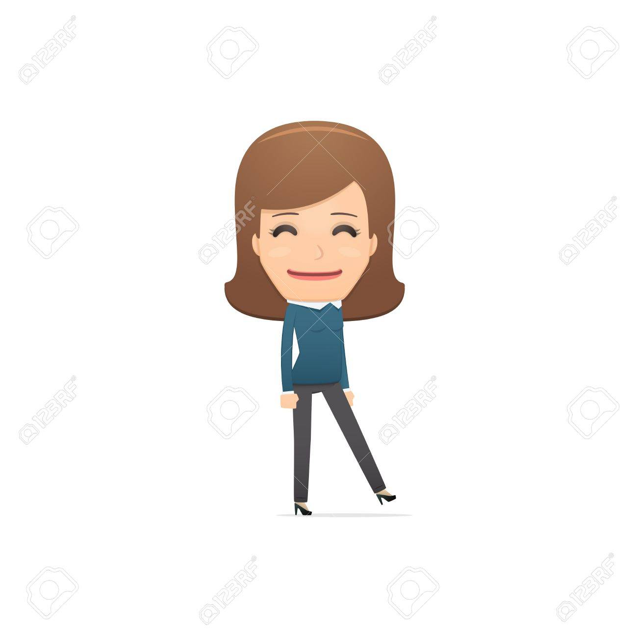 Girl manager, suitable for use in dialogues with other characters. Stock Vector - 21874580