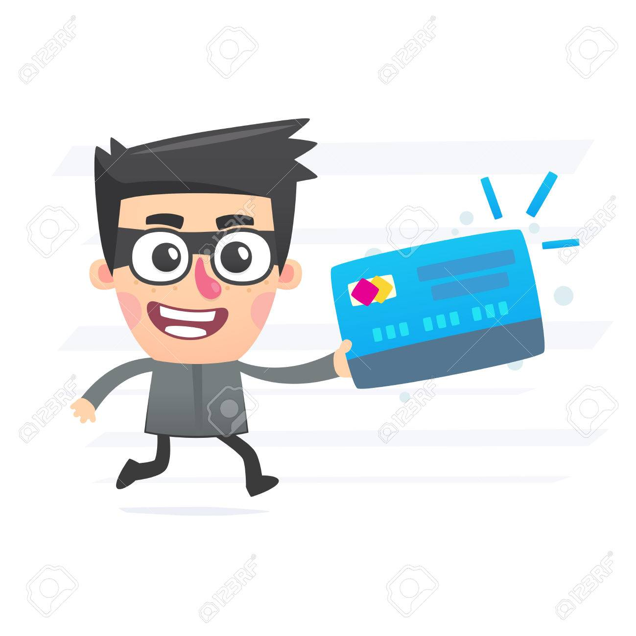 Thief with plastic card Stock Vector - 25256715