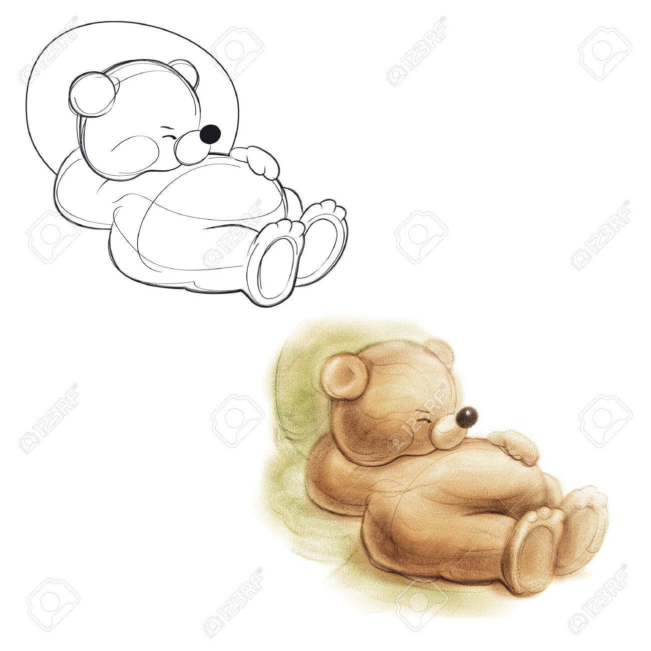 Sleeping teddy bear drawing bear stock photo picture and royalty sleeping teddy bear drawing bear stock photo 24178186 altavistaventures Image collections